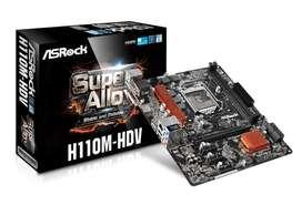 MAINBOARD ASROCK uATX S1151 H110 6TA 7MA GEN DDR4x2