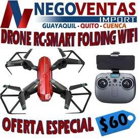 DRONE RC-SMART FOLDING WIFI INCLUYE ACCESORIOS Y MANUAL