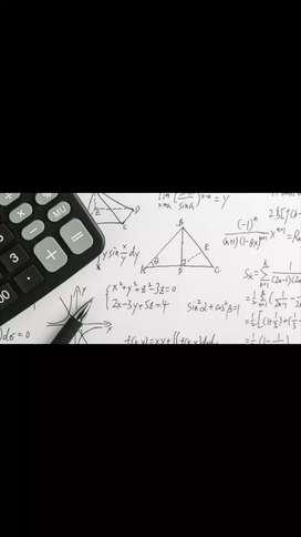 Clases en línea y presencial de matemáticas, física, química, trigonometría, estadística, geometría, ciencias.  Etc