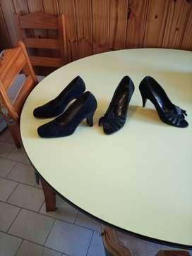 Zapatos tacón/botas de mujer. Saquito de hilo mujer.