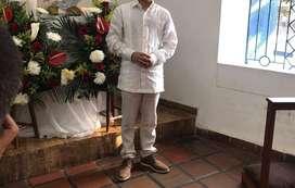 Pantalon Y Guayavera Niño 10  y 12 Años