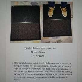Tapetes de desinfección de zapatos