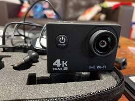 Camara depotiva tipo Go Pro 4K con wi-fi