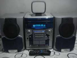Minicomponente Aiwa Nsx Bl54e Excelente Y Poderoso Sonido!!