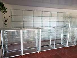 Vitrinas en vidrio de exhibición nueva
