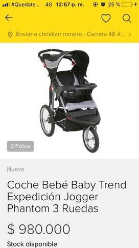 Coche baby trend expedition para bebe en excelente estado
