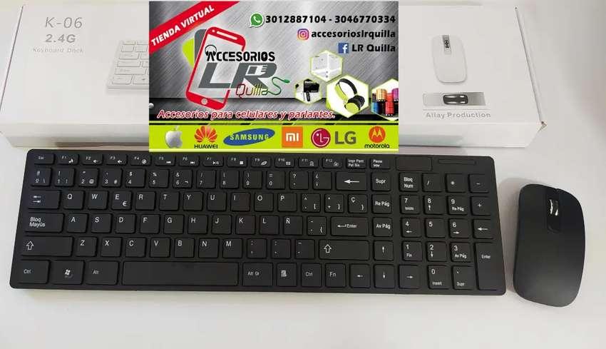 Combo teclado y mouse inalámbrico 0