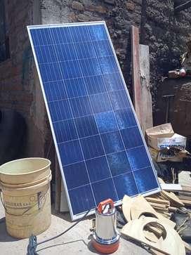 Bomba solar y panel solar. De180 watt. Y panel de 165 watt 12 v. DC .