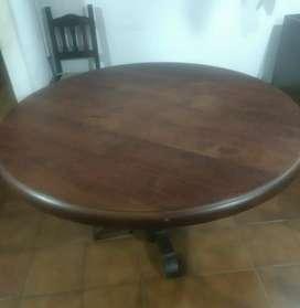 Vendo mesa de algarrobo redonda