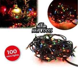 Luz Arroz Mini x 100 Foquitos Multicolor 4 Metros con Secuenciador 4 Efectos