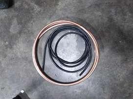 Caño de media (3metros) y cable (3metros) para aire frío calor