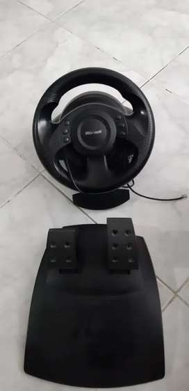 Volante y pedales Microsoft sidewinder