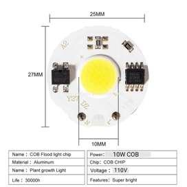 led 10w chip 110v AC cob reflector luz blanca 6400k repuesto iluminación