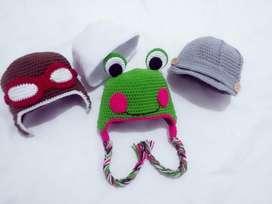 Gorro crochet para bebe