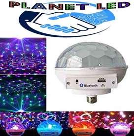 Bola Luces Luz Led Bluetooth Audioritmica Ideal Discoteca