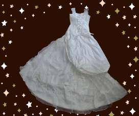 Hermoso vestido de novia blanco talla 8-10