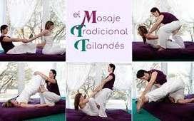 Masaje Tailandés (Thai) terapia anti estres relajante estiramiento