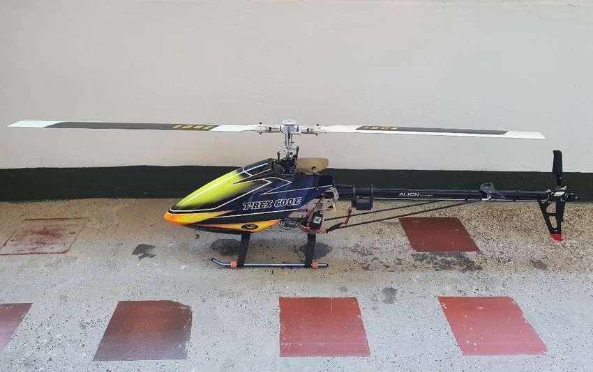 Helicóptero T-rex 600E Flybar + Maleta plusminusten 0