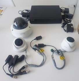 Kit cámaras de seguridad 1080 y DVR Hikvision Hilook