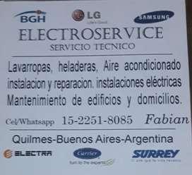 Service Lavarropas Heladeras Aires Acond