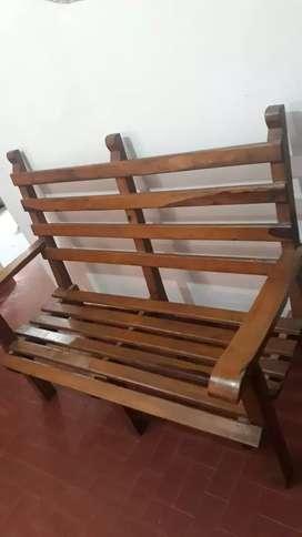 Vendo sillón de madera
