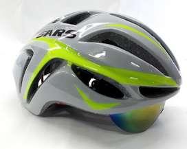 Casco SAARS ciclismo con lentes