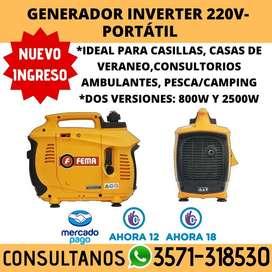 GENERADOR INVERTER 800W 220V PARA CASILLA, CONSULTORIO AMBULANTE