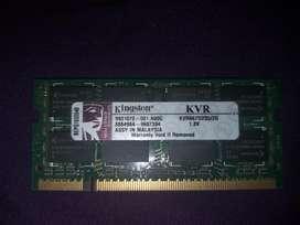 Memoria Ram 2gb Kingston para Portatil