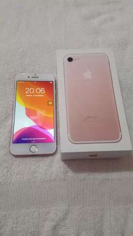 iphone 7 usado en excelente estado, golden rose