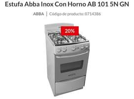 Estufa Abba con horno