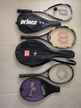 Raquetas tenis y scuash
