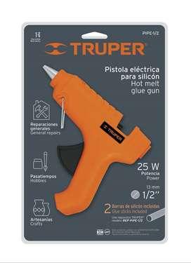 Pistola Eléctrica Para Silicona Truper PIPE-1/2 Pegamento 1/2 Reparaciones