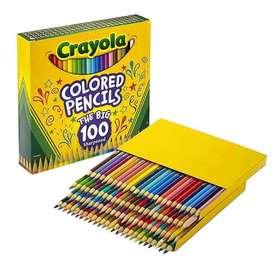 caja de 100 colores crayola nuevos
