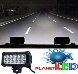 Barra Led 36w Halogeno Neblinero Faro Doble Fila 4x4 Tunin