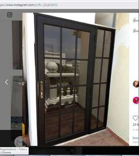 Puertas en aluminio negro