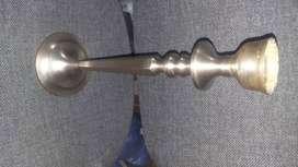 Candelabro de cobre pesado 35 cem de alto