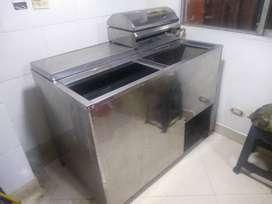 Se vende congelador mixto indufrial  en acero inoxidable