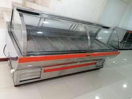 De segunda Enfriador góndola enfriador y congelador para pollo y carne con bodega de congelamiento en acero mide 2,50