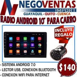 """RADIO DE CARRO ANDROID 10"""" CON CAMARA DE RETRO GRATIS"""