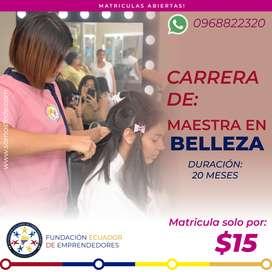 CARRERA MAESTRA EN BELLEZA