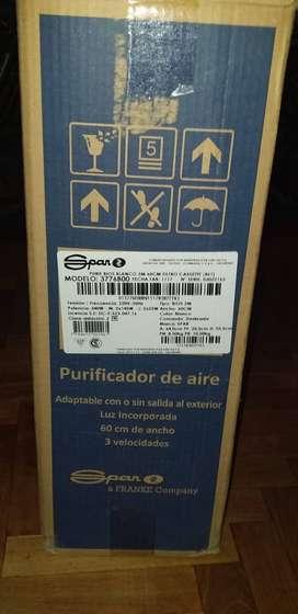 Extractor/purificador de aire Spar. Dos salidas (NUEVO, S/ GARANTÍA)