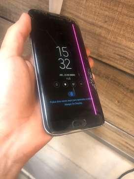 Samsung S7 Edge Lines Rosada y Fisurado