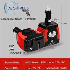 inversor de corriente de 12 voltios a 110 voltios en 150 watts