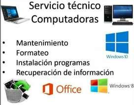 Servicio de Mantenimiento correctivo, preventivo, soporte técnico de Computadores