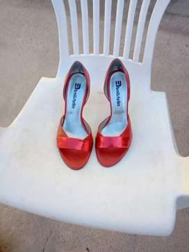 Sandalias de fiesta cuero rojo N 35