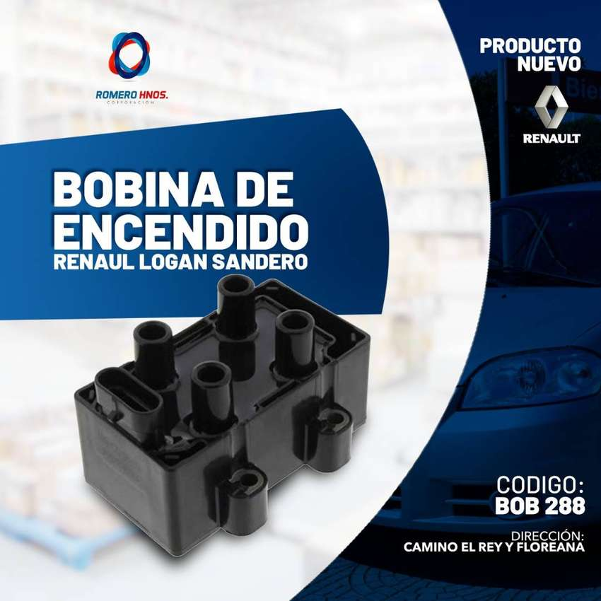 BOBINA ENCENDIDO 12V RENAULT CLIO 1.4 SCENIC 1.6 TWINGO 1.2I IC-129 LOGAN SANDERO MEGANE - ROMERO HNOS 0