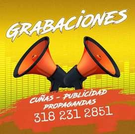 GRABACIONES - CUÑAS - COMERCIALES