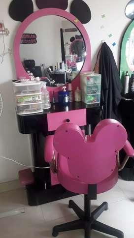 Tocador para salon de belleza