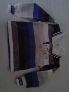 Buzo Chomba Rayas-gris-blanco-azul Nicole Use 1 Vez Perfecta