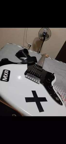 Fender Squier Jazz Master Blanco y negro